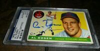 1955 Topps #70 Al Rosen Signed AUTO Cleveland Indians PSA/DNA