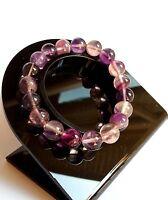 Bracelet en Pierre Naturelle Lithothérapie Minéraux Fluorite Bijoux Pour Femme