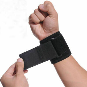 Adjustable Hand Wrist Support Wrap Brace Sports Arthritis Tendon Sprain Black UK