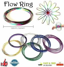 Funny Flow Ring Toys Magic Kinetic Spring Infinity Arm Slinky Juggle Dream Dance