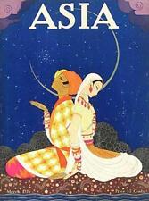 ASIA MAGAZINE COVER, INDIAN COUPLE SEATED IN GARDEN, ART DECO, FRIDGE MAGNET