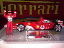 Hot Wheels 1/18 2004 Ferrari F1 Schumacher 7 times World Champion Suit Marlboro