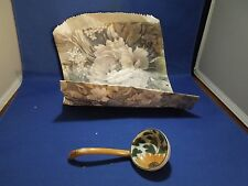 Vintage Mayonaise Spoon Serving Spoon Hand Painted Gerbera Daisy & Leaves Mayo