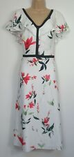 New Phase Eight Caylana Poppy Floral Print Occasion Dress Size 18