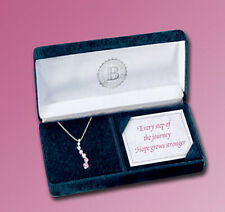 Rosa Di Cristallo Ciondolo-Collana Breast Cancer Awareness