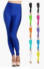 Women's Shiny Nylon High Waist Stretchy Tricot Skinny Dance Leggings - 045