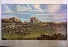 Antique James Pollard Aquatint Print 1832: Doncaster Races Great St Leger Stakes