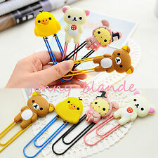 Cute Cartoon Animal Paper Note Pin Clip Bookmark Paperclip Book Mark Stationery