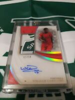 2018-19 Panini Immaculate Jersey Auto Card :William Carvalho  #2/14 SP