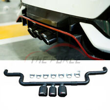 Carbon Fiber Middle Third Outlet Exhaust Pipes Tips For Honda Civic 10th 2016+