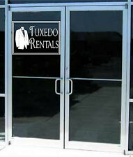Tuxedo Rentals Sign Business Vinyl Decal Sticker Sign Window Door Glass 22x15