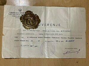 SFRJ YUGOSLAVIA - ORDER OF LABOR WITH silver WREATH RARE TYPE