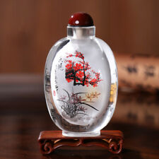 Inner Painting Snuff Bottle Chinese Antique Fragrance of Flower is Wafted Away