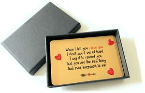 Sentimental Keepsake When I Tell You I Love You Metal Wallet Card Gift Boxed