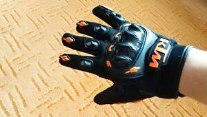Motorcycle Gloves Full Finger Orange Motocross Man Woman Guanti Moto For KTM