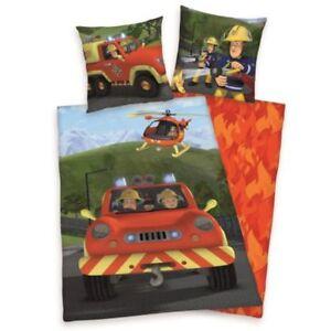 Feuerwehrmann Sam Flanell Bettwäsche 70x90 140x200 cm