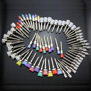 Dental Rubber Polisher Prophy Polishing Brush/Cup Latch Nylon Bristles Flat/Tape