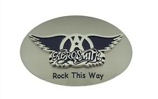 Aerosmith Rock Band Belt Buckle Rock this way Fashion Silver Metal Music Lover