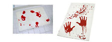 Bloodbath Set - Hand Towel and Bathmat - Blood Bloody Bath Set  - Bath Mat Towel