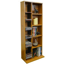 HUDSON Media CD DVD Storage Shelf Unit PINE MS0022