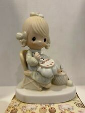 1979 Enesco Precious Moments Mother Sew Dear Needle Point Figurine