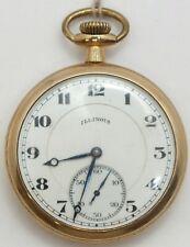 Illinois 16 Size Hand Engraved Art Nouveau 17 Jewel 1919 Pocket Watch Runs LW178