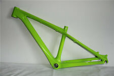 "26er Green Glossy Carbon Bike Frame Fiber 14"" Mountain MTB Bicycle Frameset BB92"