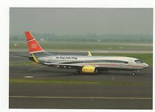TUL Fly Boeing B737-8K5 Aviation Postcard, A767
