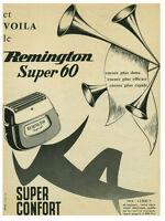 Publicité ancienne rasoir Remington Super 60