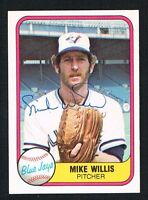 Mike Willis #426 signed autograph auto 1981 Fleer Baseball Trading Card