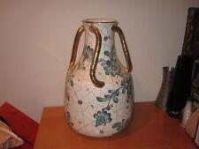 "Huge Hand Painted Italian Art pottery Porcelain Vase Signed Paul's Maroniani 15"""