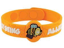 AllerMates INSECT Allergy Wristband Medical Alert ID Bee Wasp Sting Bracelet NEW