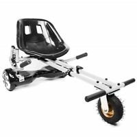 White Suspension Original HoverKart Convert Hoverboard into Go-Karts