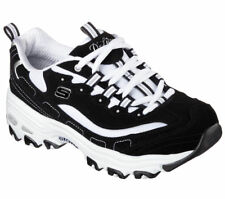 D'lites Skechers Shoes 11930 EW Wide Fit Black Women's Sport Memory Foam Sneaker