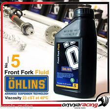 Litro olio Forcella Ohlins 01330-01 5 Front Fork Oil 1 liter 1330 01 forcelle