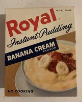 1960's Vintage Royal Banana Cream Instant Pudding Box NOS Unopened Sealed