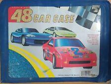 Vtg Tara Toy 48 Diecast Car Carry Case Filled 48 Hot Wheels Matchbox Cars Trucks