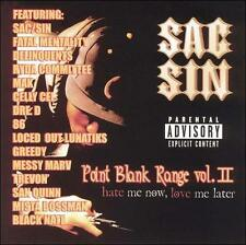 New: Sac-Sin: Point Blank Range/Hate Me Now, Love Me Later, Vol. 2 Explicit Lyri