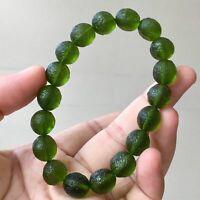 1pc Green GEM MOLDAVITE Bracelet en verre M/ét/éorite impact tch/èque Pierre color/ée LSB