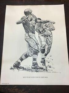 1959 Original Print by Robert Riger of MILT PLUM #16 Cheveland Browns