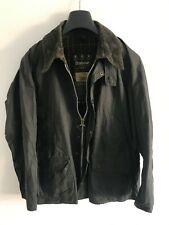 Mens Barbour Bedale wax jacket Blue coat 40in size Medium / Large M/L Grey