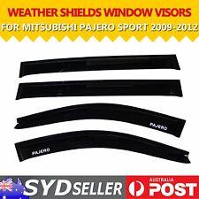 Weathershields Weather Shield Window Visors For Mitsubish PAJERO SPORT 09-12 SUV