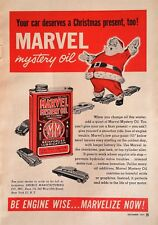 1951 Marvel Mystery Oil Santa Claus Christmas - Original Full Page Ad