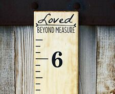 DIY Vinyl Growth Chart Ruler Decal Kit - Large # style, Loved Beyond Measure
