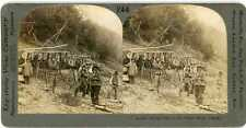 Alaska ~ INDIANS DRYING FISH ON THE YUKON RIVER ~ Stereoview 11518 ve244a fx