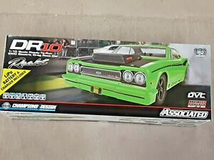 Team Associated DR10 RTR Brushless Drag Race Car Combo Green w/Battery & Charger