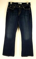 Levi's Signature Women's Jeans Curvy Boot Cut Stretch Dark Wash Size 14 S 34x29
