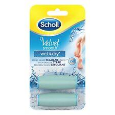 2 X TESTINE Scholl VELVET ORIGINALE Smooth Wet & Dry Ricaricabile Pedicure Piedi