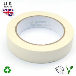 25MM x 50M WHITE MASKING TAPE - LOW TACK - PAINTING DECORATING - EASY TEAR