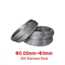 Thin 304 Stainless Steel Wire Single Soft Steel Wire 0.05/0.1/0.2~3mm Diameter